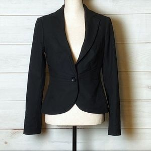 The Limited Fitted One Button Black Blazer